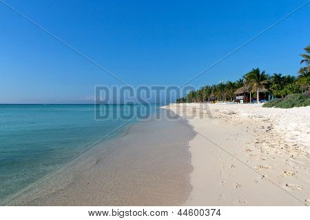 Beach at Playa del Carmen, Mexico