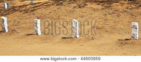 Corner Edging Stones At Auroville