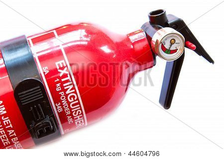 Red Fire Extinguiher On White Background