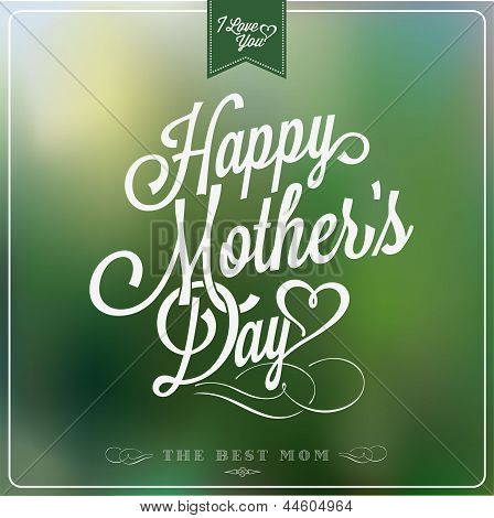 Happy Mother's Day Typographical Background