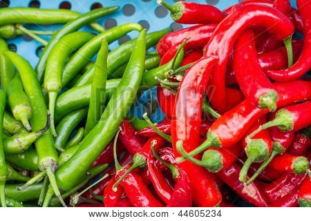 Sweet Red Pepper And Green Pepper