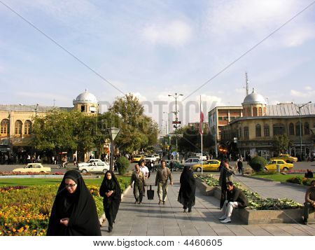 Centre Of Hamedan In Northern Iran