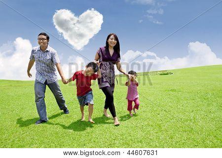 Asian Family Stroll