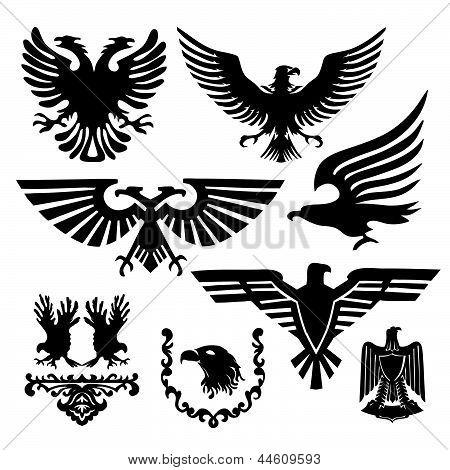 Brasão de armas com uma águia