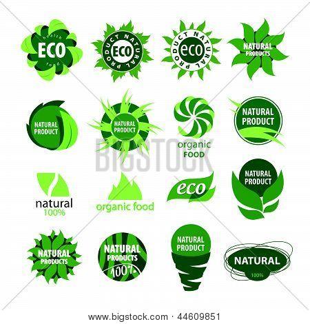 Ícones de produtos naturais