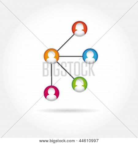 social icon group element flirtation vector internet chat
