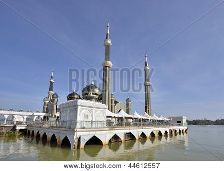 crystal mosque at Kuala Terengganu Malaysia