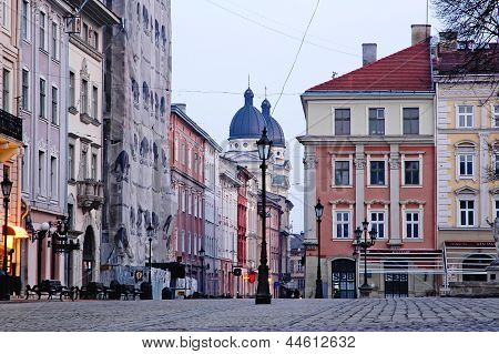 Cityscape Of Lvov In The Morning