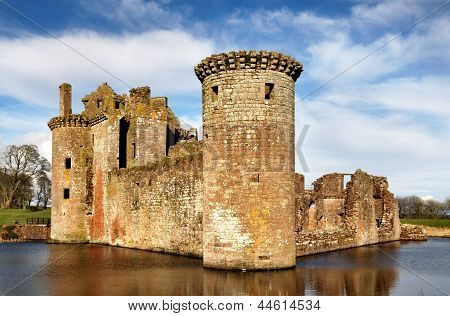 South west tower at Caerlaverock Castle