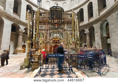 At The Church Of The Holy Sepulchre - Jerusalem