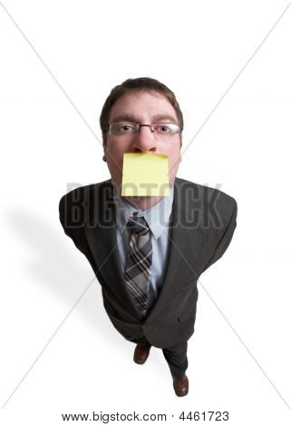 Businessman With Reminder Note