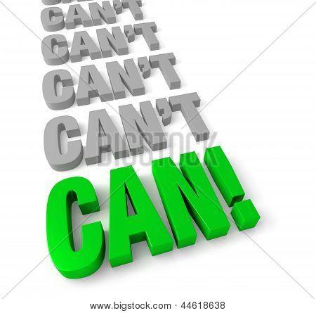 """Positive, """"can Do"""" Attitude"""