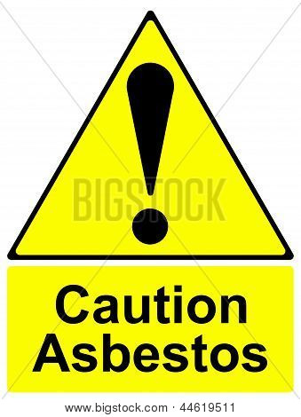 Caution asbestos sign