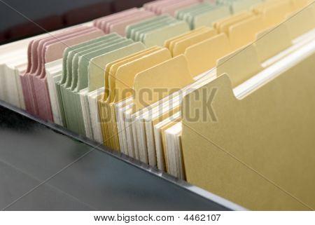 Index Cards Closeup