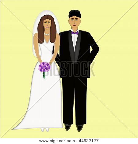 Wedding Couple Both Caucasian