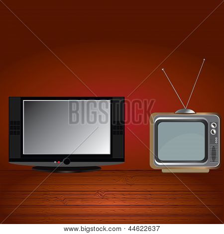 Old And Flat Tv.