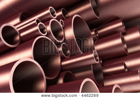 Stack Of Steel Tubing