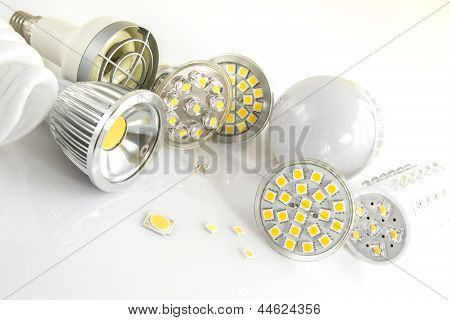 Led Bulbs With Various Large Chips