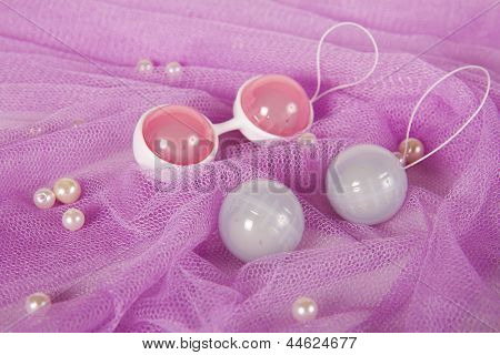 Vaginal Balls On Fabric