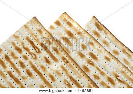 Macro Of Three Matzoh