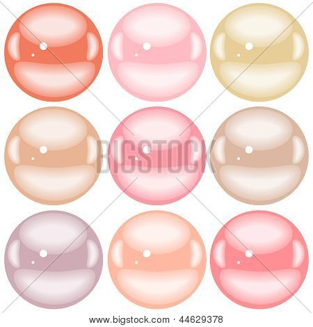 Pearl bead set