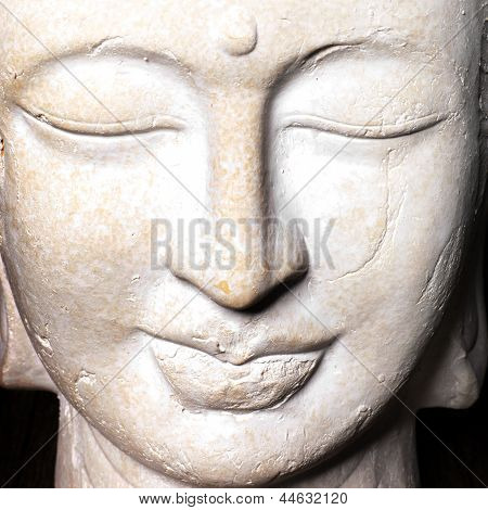 Serene Face Of A Stone Buddha