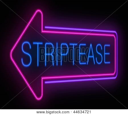 Striptease Sign.