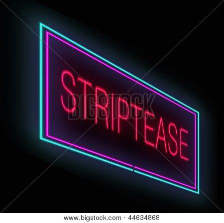 Striptease Sign.