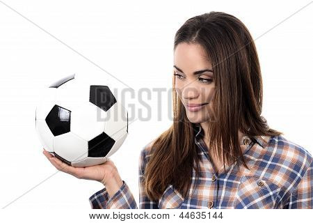 Beautiful Woman With Ball