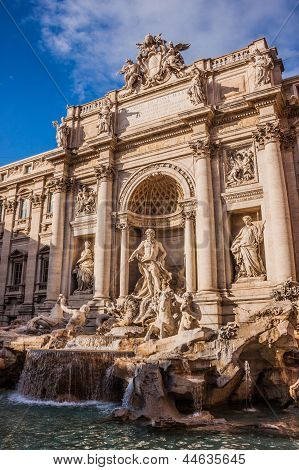 Trevi Fountain - Famous Landmark In Rome