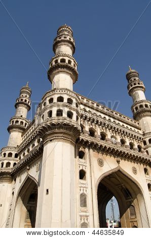 Charminar Tower angled view