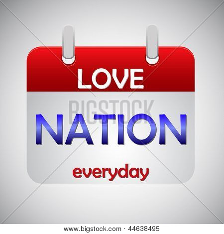 Love Nation Everyday Calendar Icon