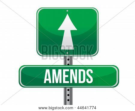 Amends Road Sign Illustration Design