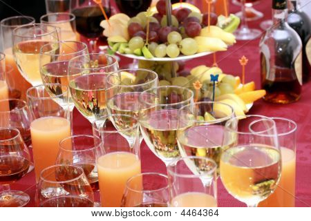 Catering - Glasses With Drinks