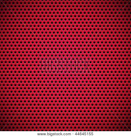 Círculo rojo transparente perforado parrilla textura