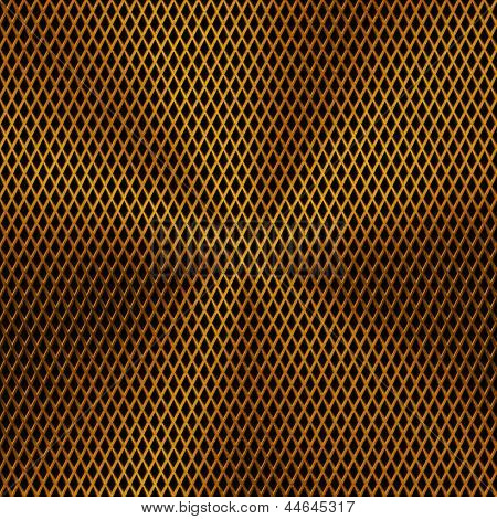 Background with Circular Gold Metal Texture
