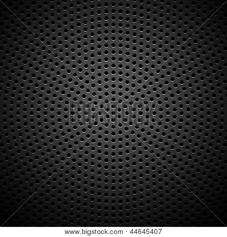 Circle Perforated Carbon Speaker Grill Texture