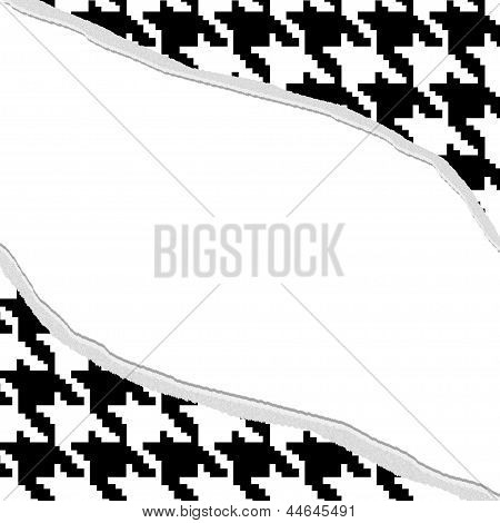 Houndstooth Torn Background For Your Message Or Invitation