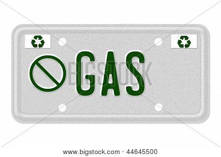 No Gas Car  License Plate
