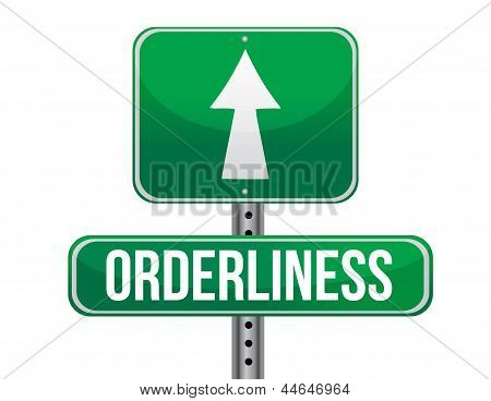 Orderliness Road Sign Illustration Design