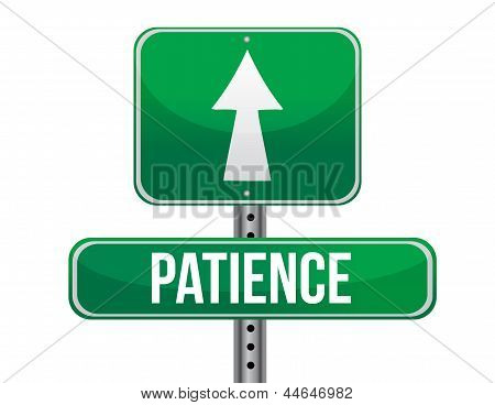 Patience Road Sign Illustration Design