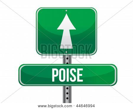 Poise Road Sign Illustration Design