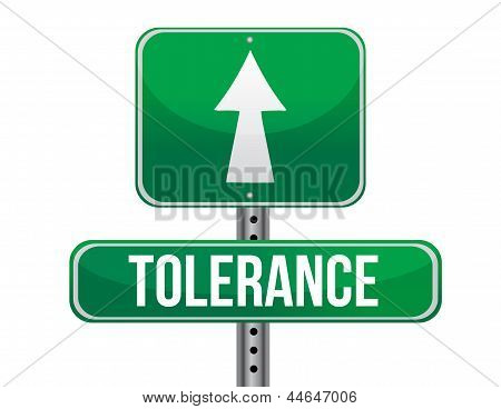 Tolerance Road Sign Illustration Design