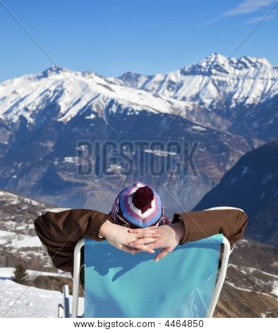 Woman Resting On Chair