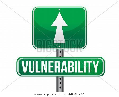 Vulnerability Road Sign Illustration Design