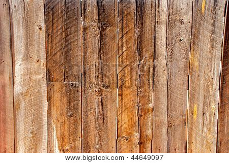 Old Wood Fence With Knots
