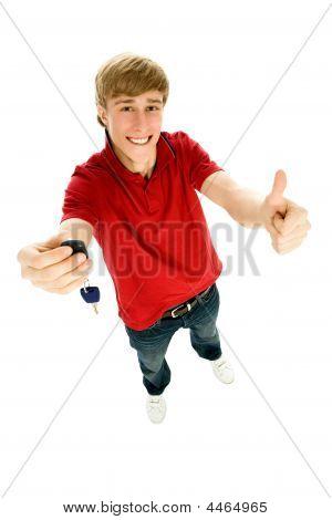 Teenager Holding Car Keys