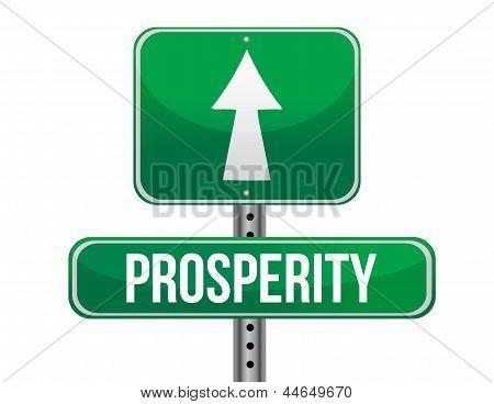 Prosperity Road Sign Illustration Design