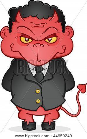 Evil Business Devil Cartoon Character