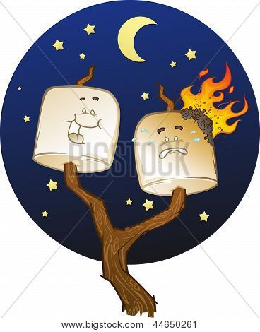 Toasted Marshmallow Cartoon Characters